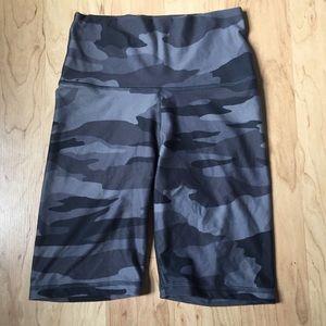 grey camo biker shorts